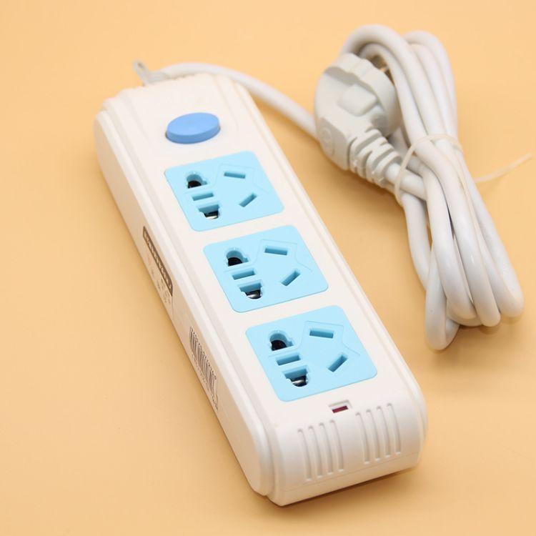 悦电YD-230 2-4米大功率2500W插线板3孔排插 质量保证