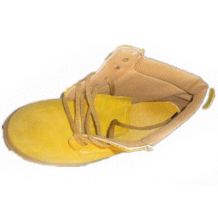 防护劳保鞋高帮防臭加厚棉鞋黄色保暖 钢头防护耐磨耐酸碱
