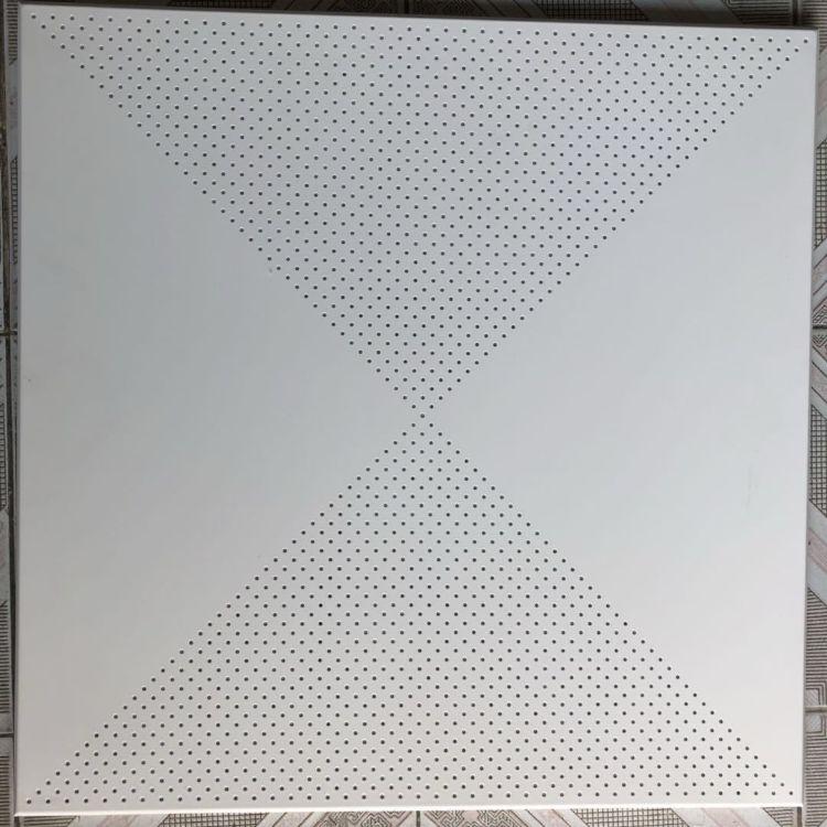 廊坊工程天花吊顶600*600白色铝扣板方形平板对角天花 厂家直销