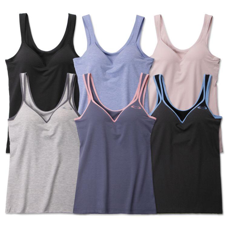 女士背心式BRA免文胸瑜伽健身内衣防震聚拢带胸垫罩打底运动吊带
