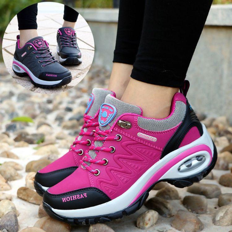 2018韩版百搭休闲保暖棉鞋女士冬季新款加绒运动鞋气垫跑步旅游鞋