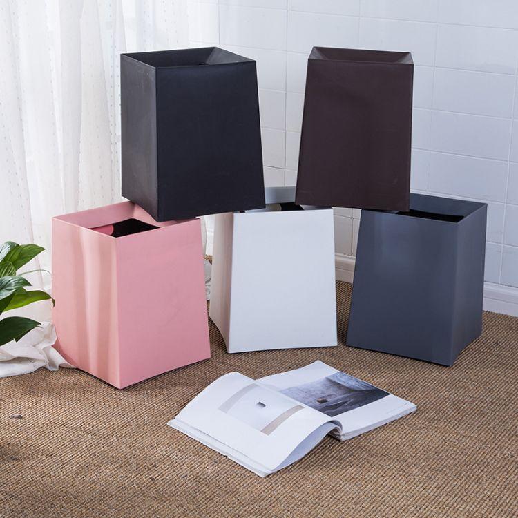 日式垃圾桶家用客厅卫生间无盖双层大号办公室纸篓筒加厚