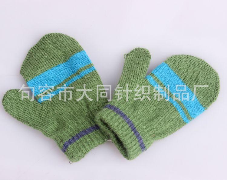 热销推荐针织手套 保暖手套 夹条手套 提花手套,可绣LOGO