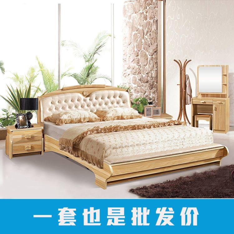 板式床简约现代1.5米床双人床1.8米床卧室单双人床公寓式单人床