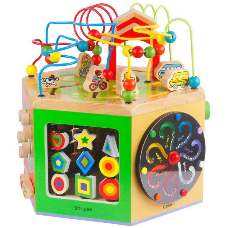 儿童小孩玩具1-2-3周岁益智力开发男女宝宝早教积木串绕珠百宝箱