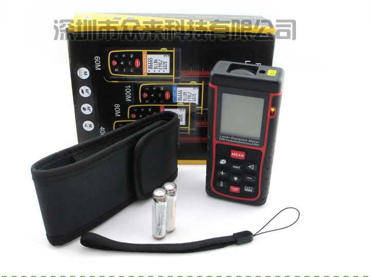 高精度40米手持式红外线测量仪激光电子尺 红光激光测距仪