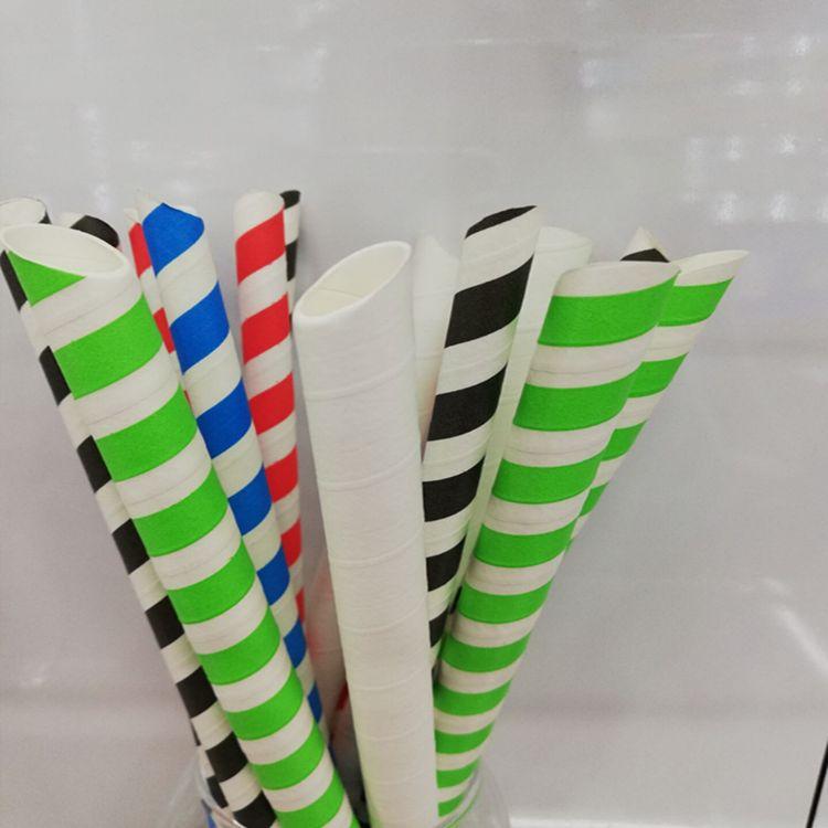 独立包装切口艺术性降解圣诞派对节日咖啡奶茶环保一次性纸吸管