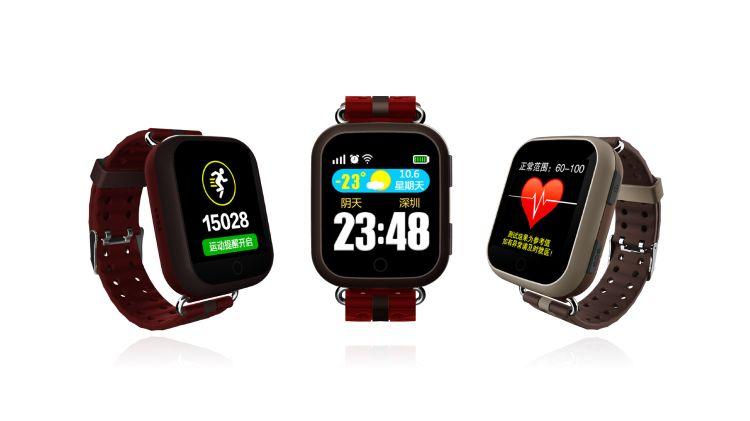 老人智能手表带心率健康监测GPS定位防走丢跌倒求救老人电话手表