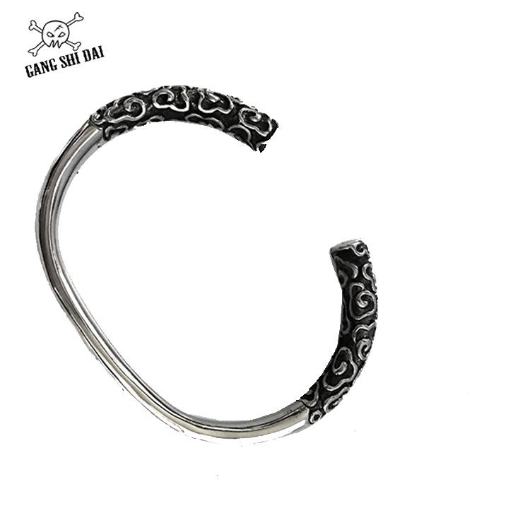厂家直销金箍棒手镯大圣归来情侣款手环个性复古简约开口钛钢戒指