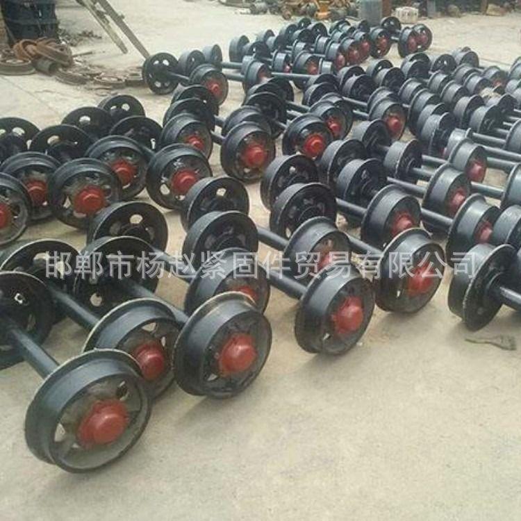 厂家直销 铸钢矿车轮 矿车轮对 工矿配件 铸钢铸铁矿车轮对