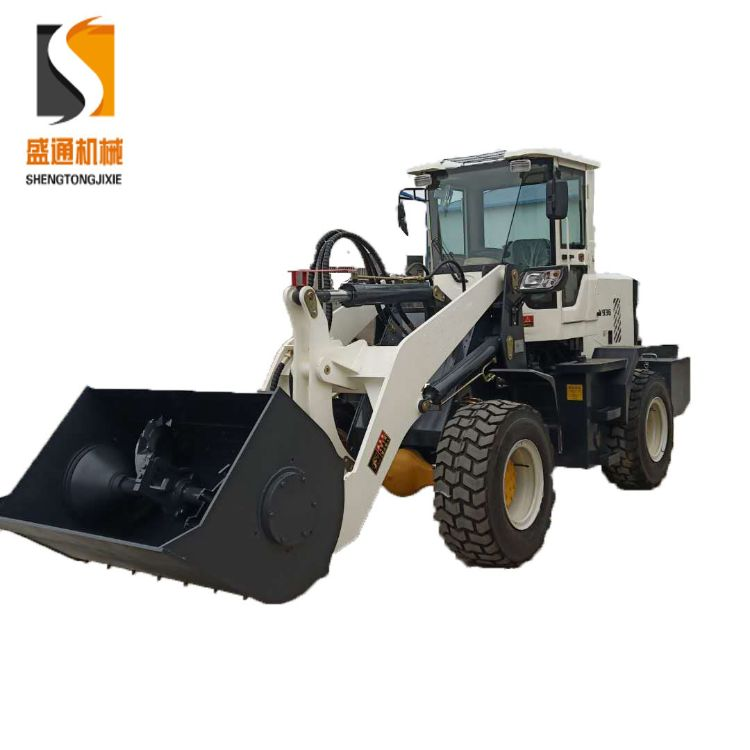 北京建筑工地路面维修专用设备 混凝土上料推铲均匀搅拌装载机