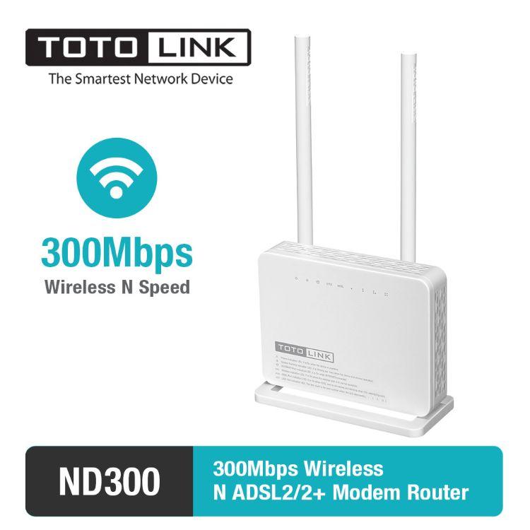 原装英文TOTOLINK ND300无线一体猫 ADSL 2+ WiFi路由器 国外出口