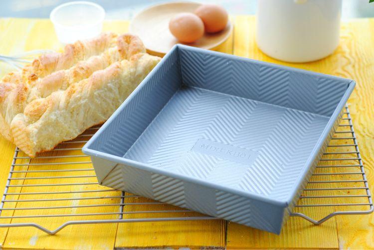 【面大师】银色正方形波浪纹烘焙烤盘 蛋糕面包烤盘