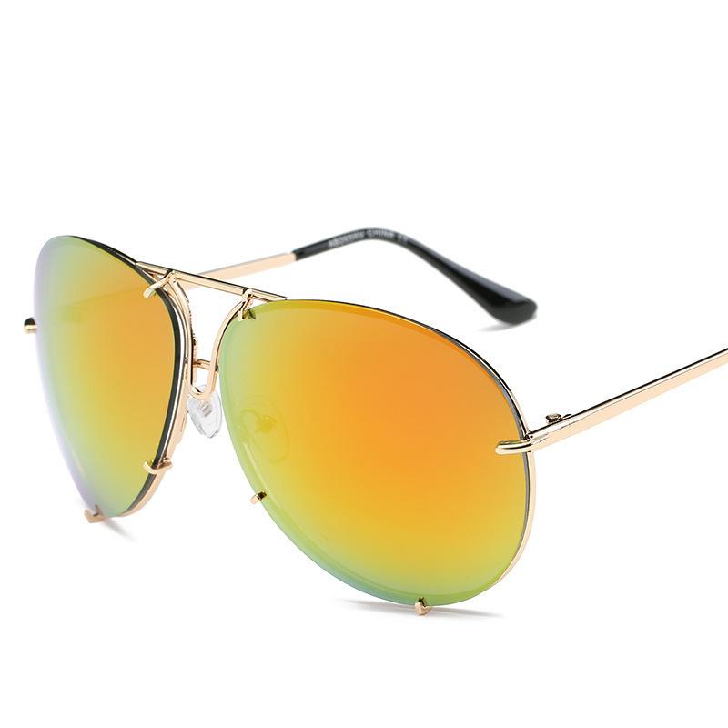 2018新款海洋太阳镜彩膜镜时尚复古男女大框墨镜265