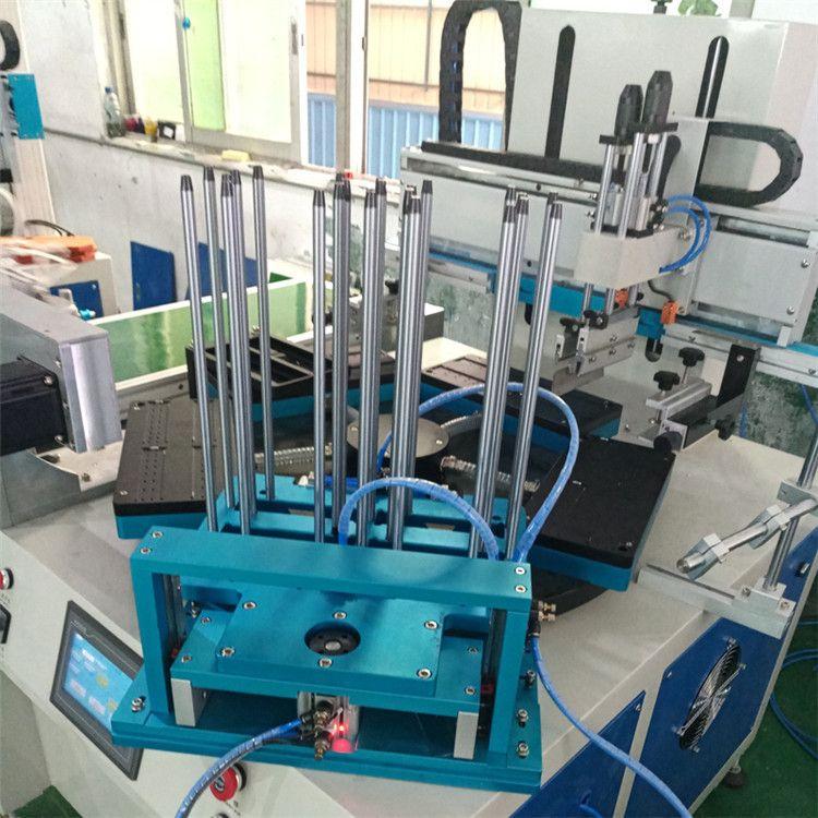 学生文具尺全自动丝印机销售 骏晖印刷机械 尺子平面丝网印刷机厂家 可定制多色