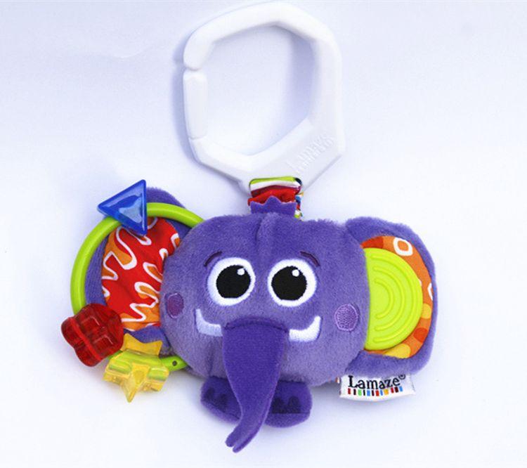 婴幼儿安抚摇铃小动物车挂玩具