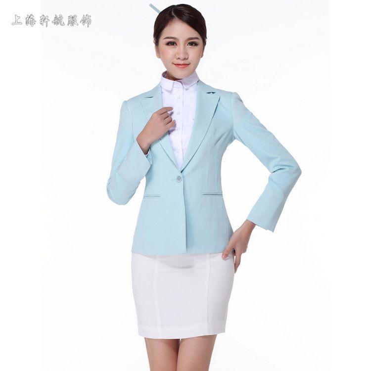 韩国大韩航空空姐制服职业女裙装装酒店前台工作服会所服务员制服