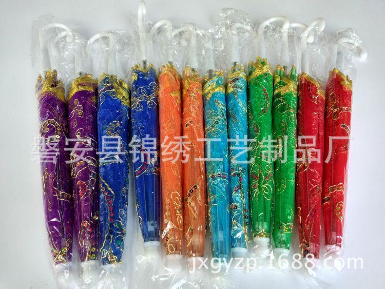 厂家直销 儿童蕾丝伞 大号蕾丝花边玩具伞 绣花舞台道具伞