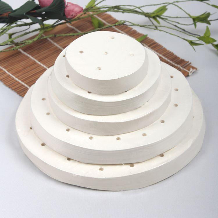 圆形蒸笼纸 包底纸烘培纸蒸屉纸馒头纸 包子防粘垫纸500张