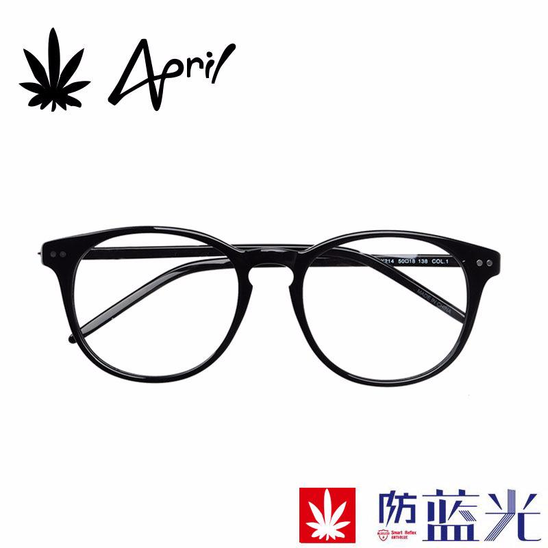2018新复古圆框板材镜架男女通用防蓝光全框架眼镜护目镜批发OEM