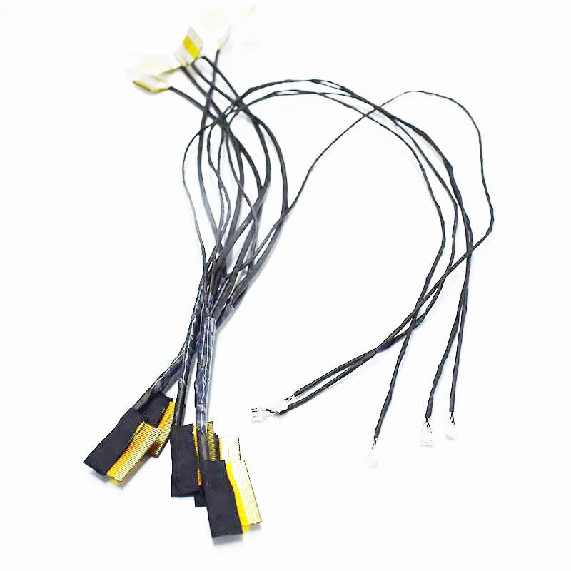 产地货源加工生产LVDS线高清晰ffc线 4K液晶屏连接线 镀金屏蔽线