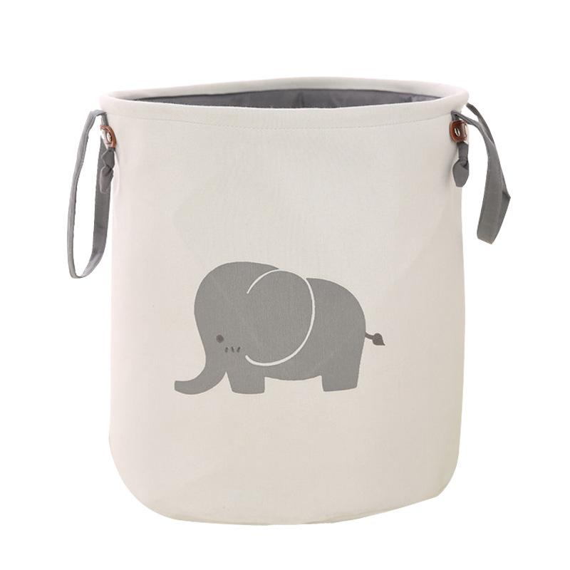 布艺收纳可折叠脏衣篮 加厚双层儿童玩具杂物整理储物桶箱