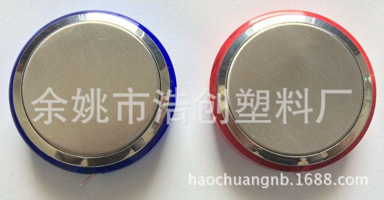 厂家供应 促销礼品赠品 塑料PVC皮卷尺 双面不锈钢2米圆形钢卷尺