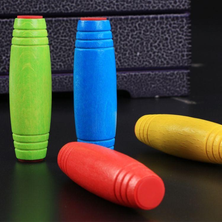 厂家直销mokuru榉木减压棒桌面玩具rollver翻棍木棒指尖玩具