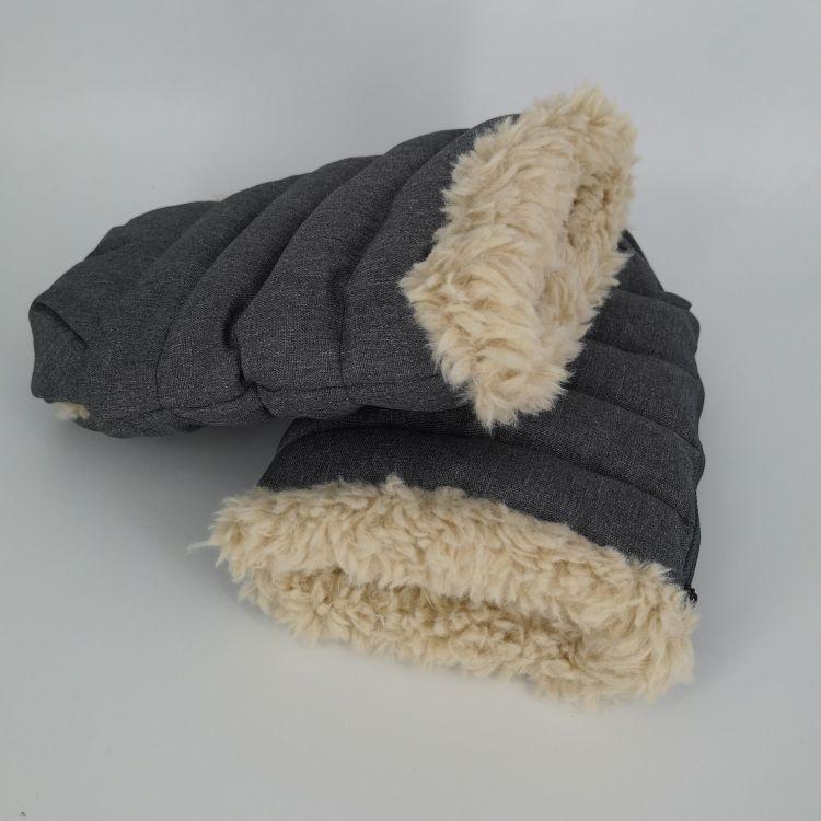 秋冬季新款加厚毛绒手套定做  户外婴儿手推车防寒双层保暖棉手套