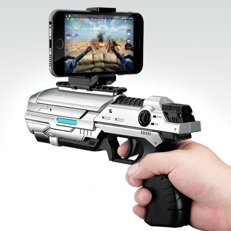 跨境专供 TXD-306 AR游戏枪手机智能蓝牙4D体感射击儿童玩具批发