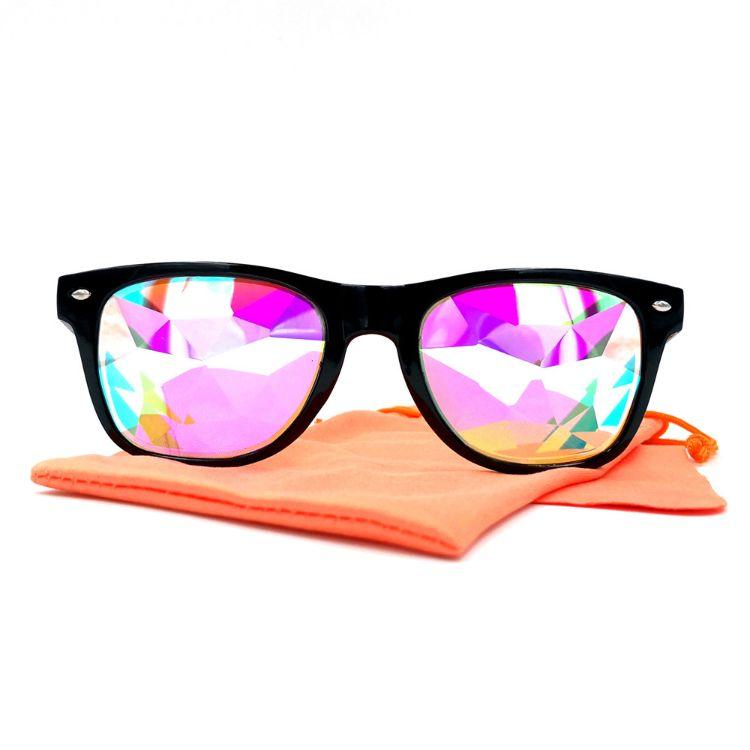 速卖通热卖万花筒眼镜男女表演马赛克迷幻音乐会太阳镜2140