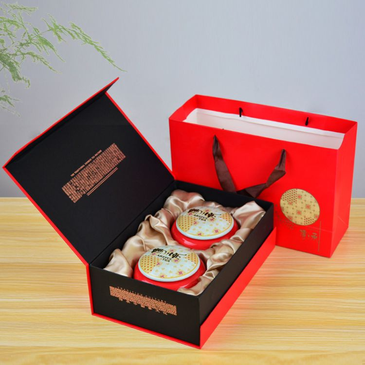 忠艺信 促销陶瓷茶叶罐 密封罐 礼盒包装 铁观音红茶黑茶白茶通用礼品定制