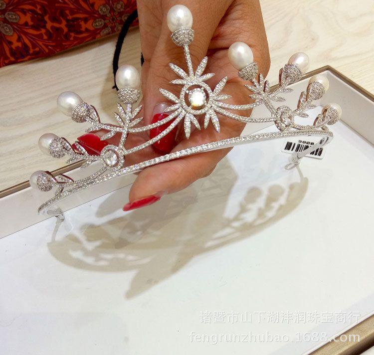 女韩版   时尚气质    精致美观   珍珠王冠   厂家直销