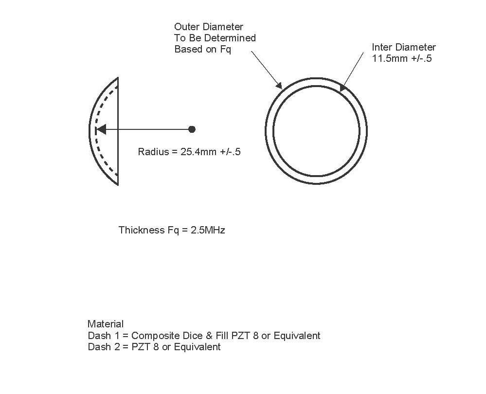 超声刀拉皮 燃脂 雷达线雕 用聚焦压电换能头 聚焦波片