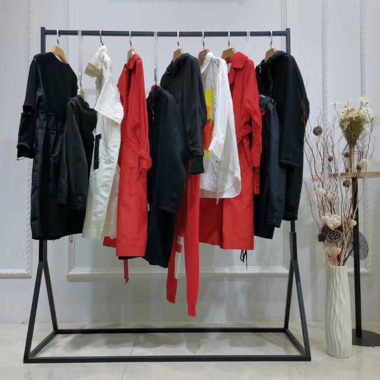 广州原创设计师净墨19秋冬衬衫外套尾货女装批发品牌折扣女装