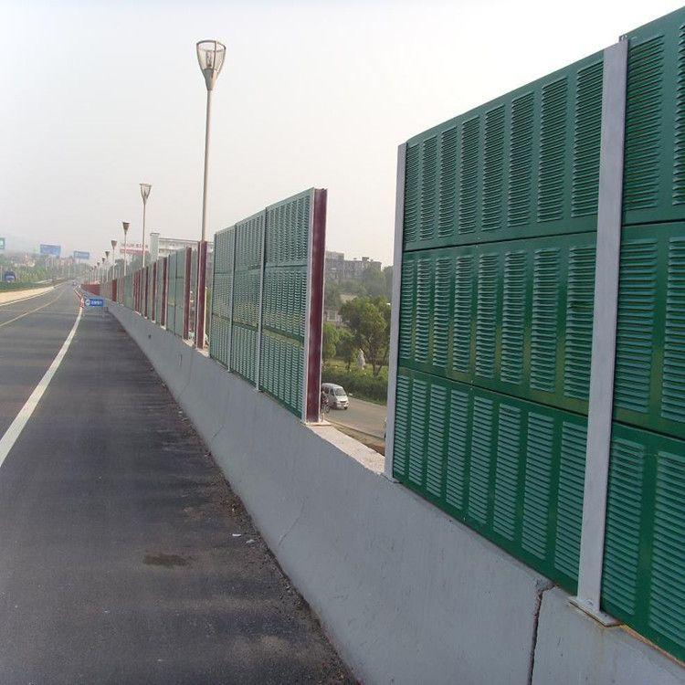 城市桥梁隔音声屏障  飞机场降噪音隔音墙屏障   5米工厂声屏障