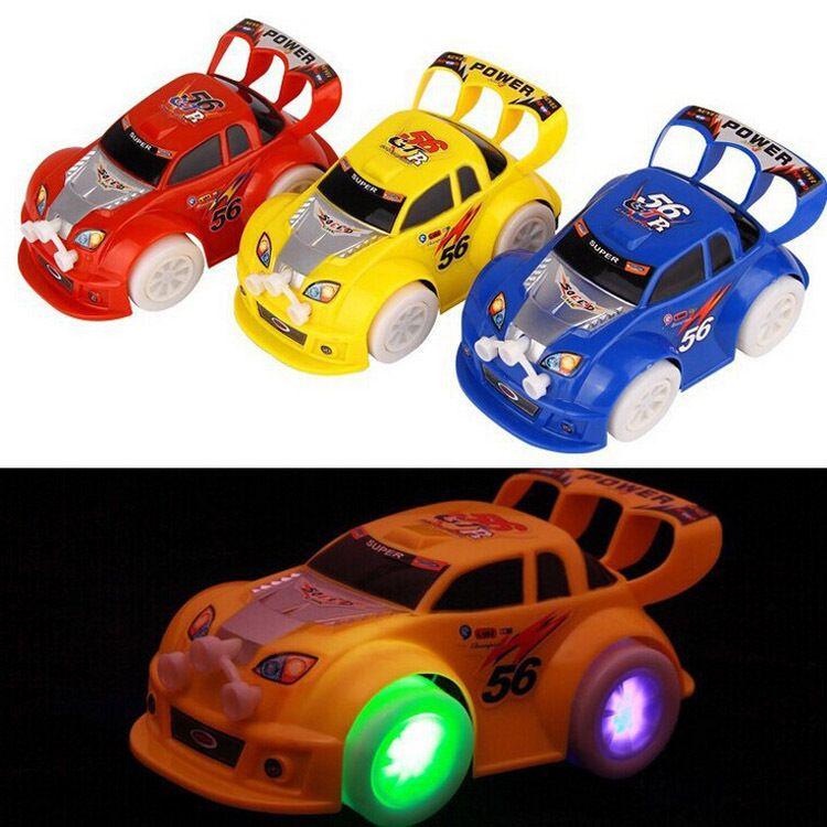 电动万向车灯光音乐闪光万向玩具车小汽车跑车发光地摊热卖玩具