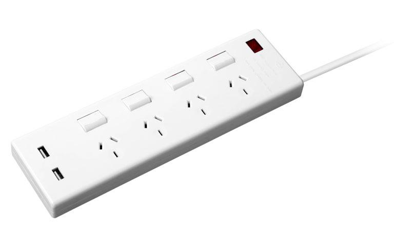 厂家直销澳洲澳标SAA认证插线板排插,澳标带USB插线板插座拖线板