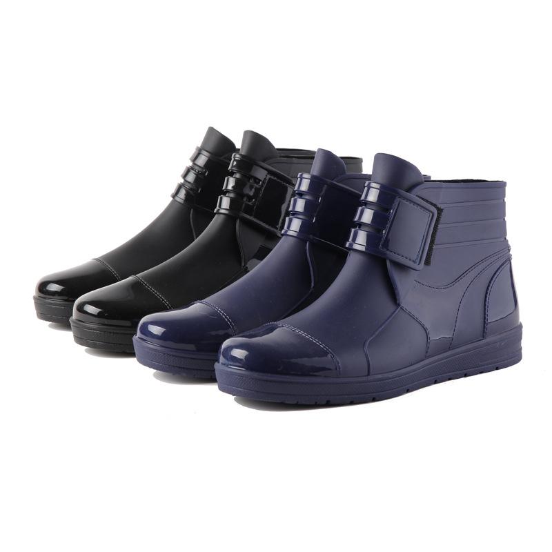 新款韩国男士晴雨鞋水鞋雨靴批发低筒低帮外贸男潮鞋子