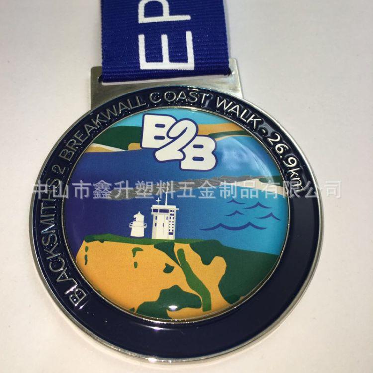 锌合金金属奖牌定做制作马拉松运动会比赛活动荣誉工艺品烤漆上色