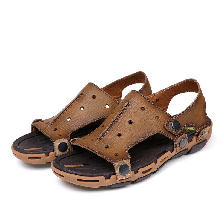 夏季凉拖鞋男士一字拖沙滩凉鞋潮拖韩版防滑个性室外休闲男拖半拖