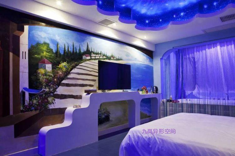 九岗创意主题酒店房间定制异形空间定制GRG玻璃钢造型