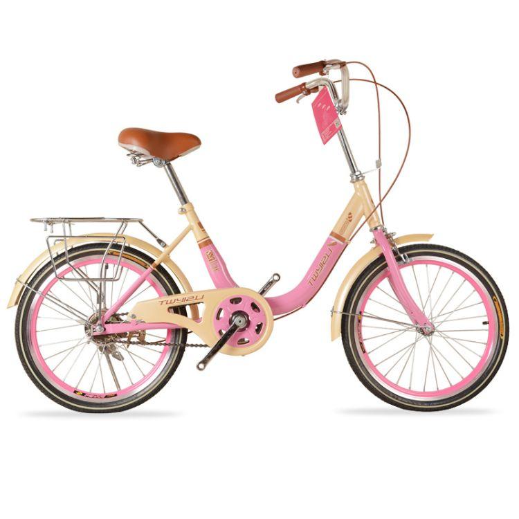 产地货源 新款 20寸女式自行车走轴承 轻便代步车 物流包邮