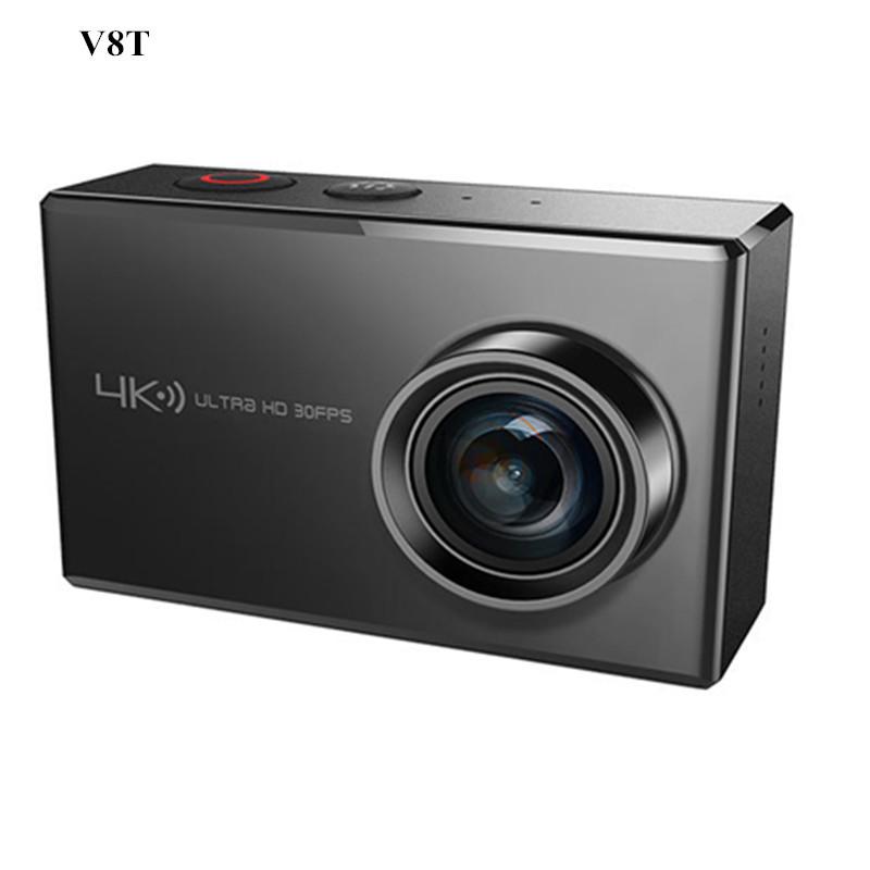跨境热销V8T钛合金材质真4K運動相機 2.45寸触摸屏户外运动摄像机