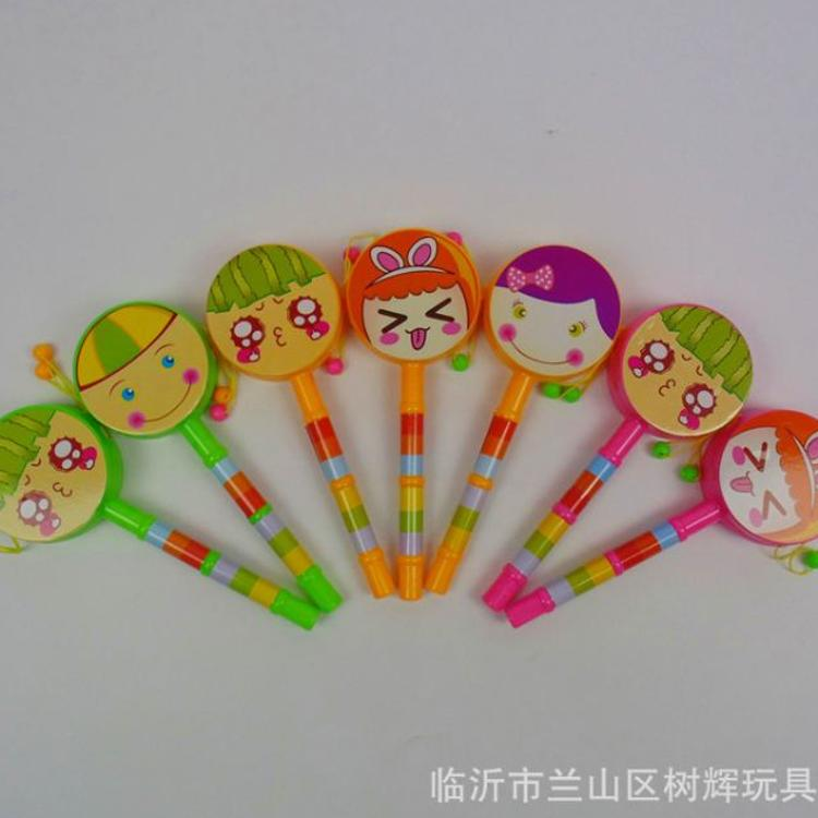 639A拨浪鼓 塑料卡通手摇鼓 婴幼儿童早教益智玩具
