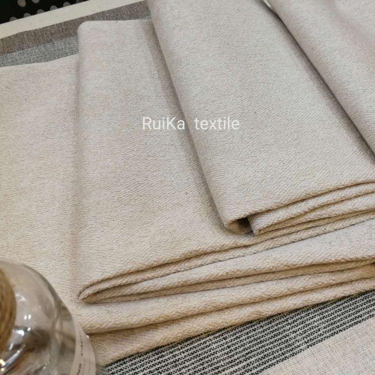 厂家直销沙发布麻布人字纹斜纹复合加厚素色麻布抱枕面料工程布