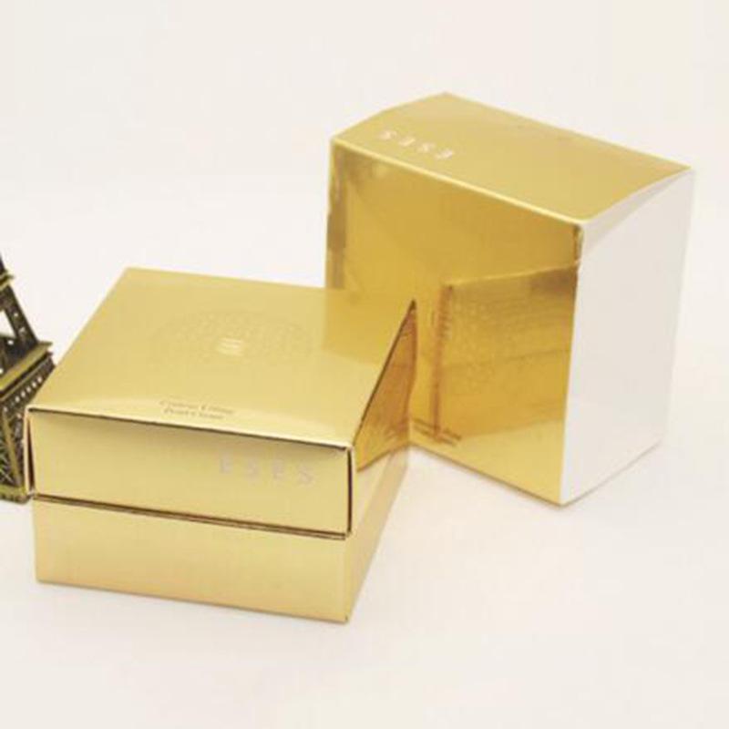 金银卡盒订制逆向UV印刷磨砂防刮花防水面膜盒香水盒礼品盒卡盒