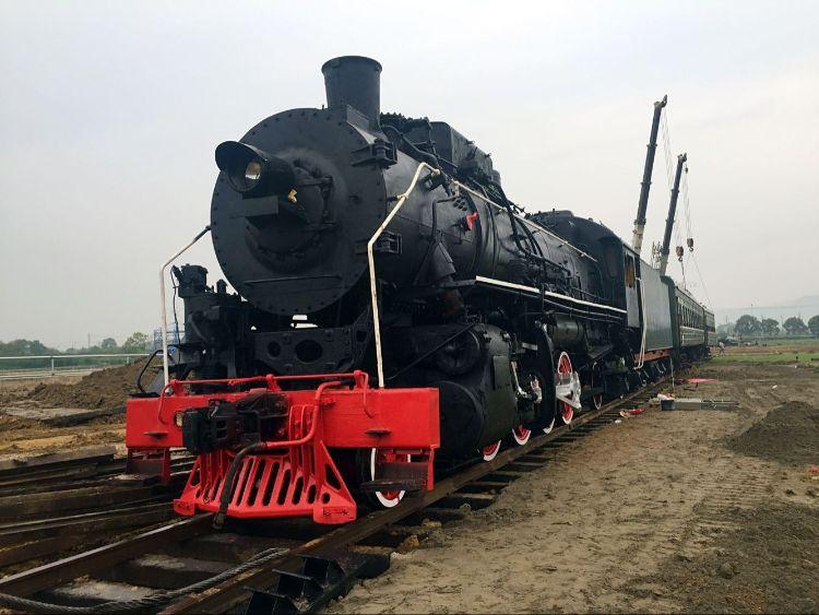 建设型蒸汽车头蒸汽机车火车头火车厢供应