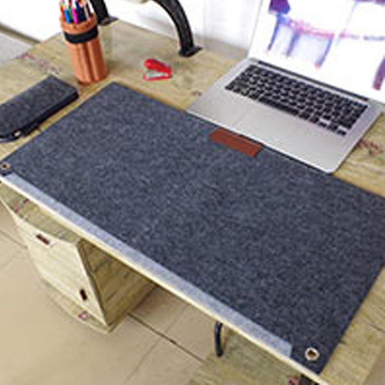 防滑暖手双层桌垫柔软羊毛厚鼠标垫电脑办公键盘笔记本桌面垫护垫