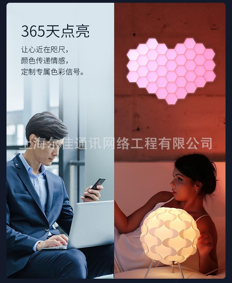 量子灯LOGO墙 10片 创意图文 拼接礼物背景装饰彩灯 AI智能灯 量子灯